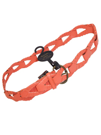 M0NS00N Accessorize ORANGE Braided Loop Buckle Belt - Size Small to Medium