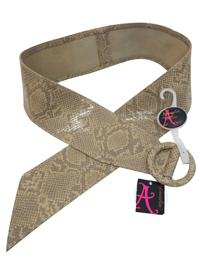 M0NS00N Accessorize FAWN Wide Faux Snakeskin Belt - Size Medium to Large