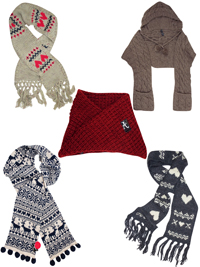 ASSORTED Knitted Scarves - FreeSize