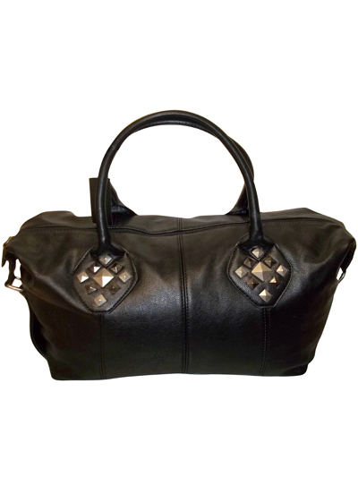 DESIREE Black Stud Embellished Large Holdall Handbag