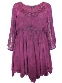 Eaonplus PLUM Empire Renaissance Embroidered Tunic - Plus Size 18 to 32