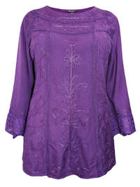eaonplus PURPLE Egyptian Renaissance Gothic Tunic - Plus Size 18 to 32