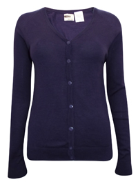 Hering NAVY Pure COTTON Fine Knit Summer Cardigan - Size 10  to 16 (Small to XLarge)
