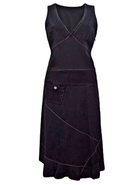 Claire Delandes French Designer Exposed Stitch Patch Dress - Size 10 to 18