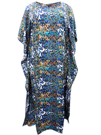 eaonplus Animal Print So Soft Kaftan Dress - Plus Size 14 to 34