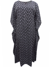 eaonplus Dandelion Print So Soft Kaftan Dress - Plus Size 14 to 34