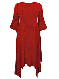 eaonplus RED Butter Soft Hanky Hem Mythical Ways Dress - Plus Size 18/20 to 30/32