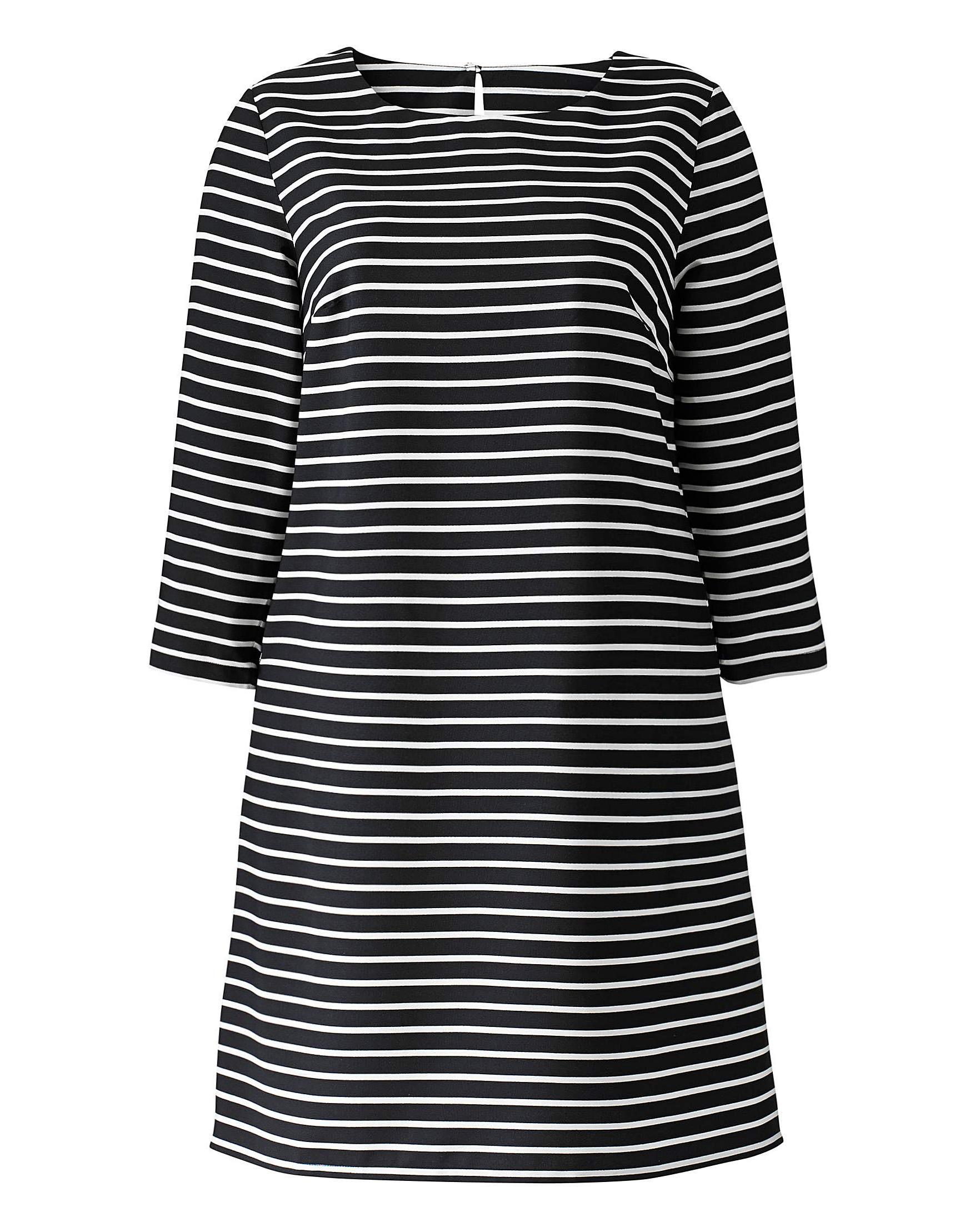 b33e7fb52dd Wholesale Plus Size Clothing from Marisota - - Anthology MONO Striped Tunic  Dress - Plus Size 12 to 32