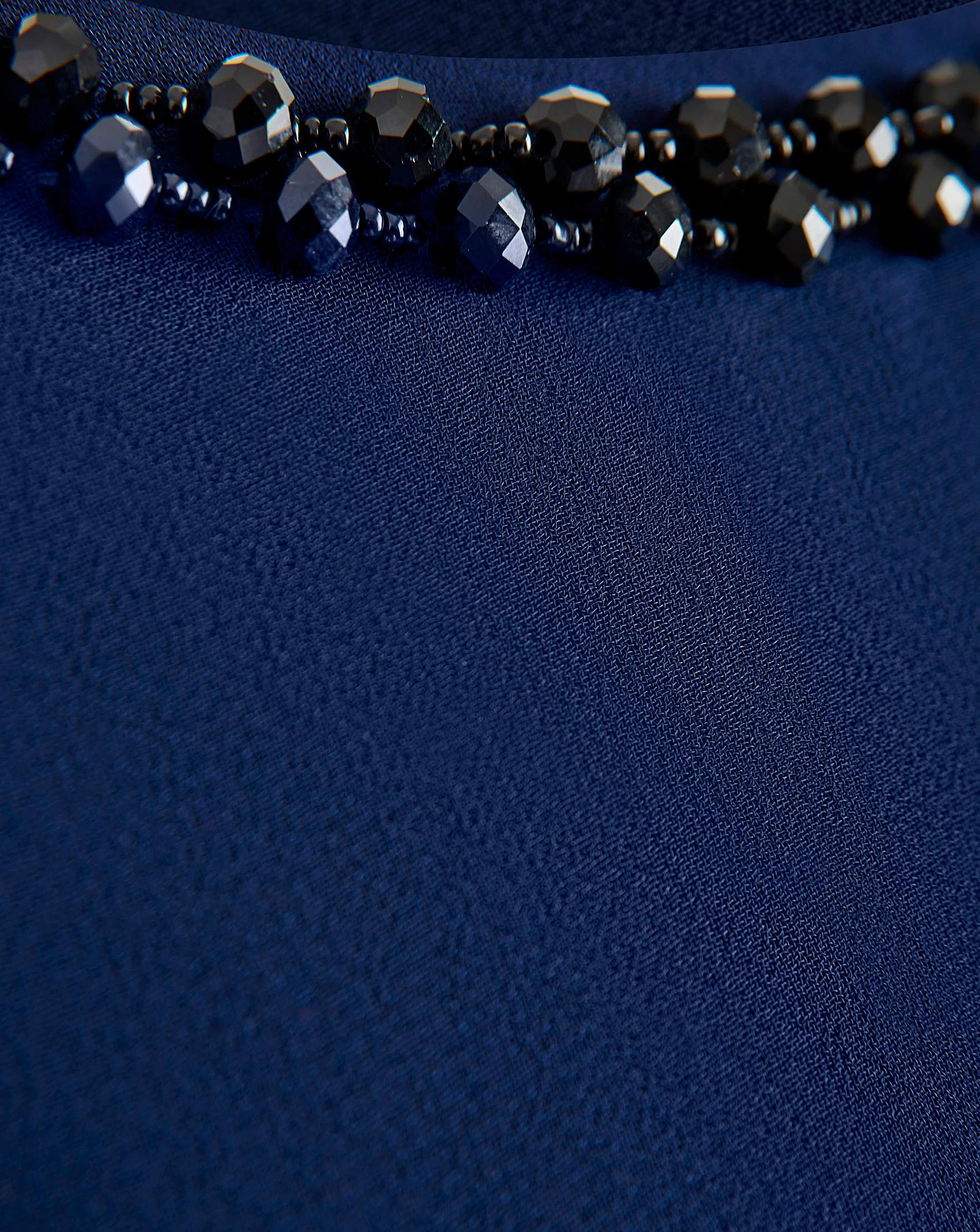 6d5715829347 Joanna Hope - - Joanna Hope NAVY Jewel Trim Swing Dress - Plus Size 12 to 32
