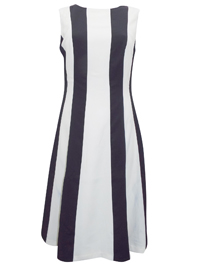 IRREGULAR - Joanna Hope MONO Color Block Striped Dress - Size 10 to 32