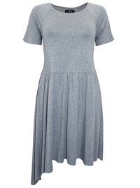 Ellos GREY Xtreme Dipped Side Tunic Dress - Size 8/10 to 20/22