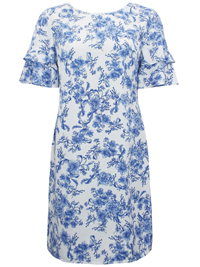 Anthology IVORY Floral Print Layered Sleeve Dress - Plus Size 14 to 26