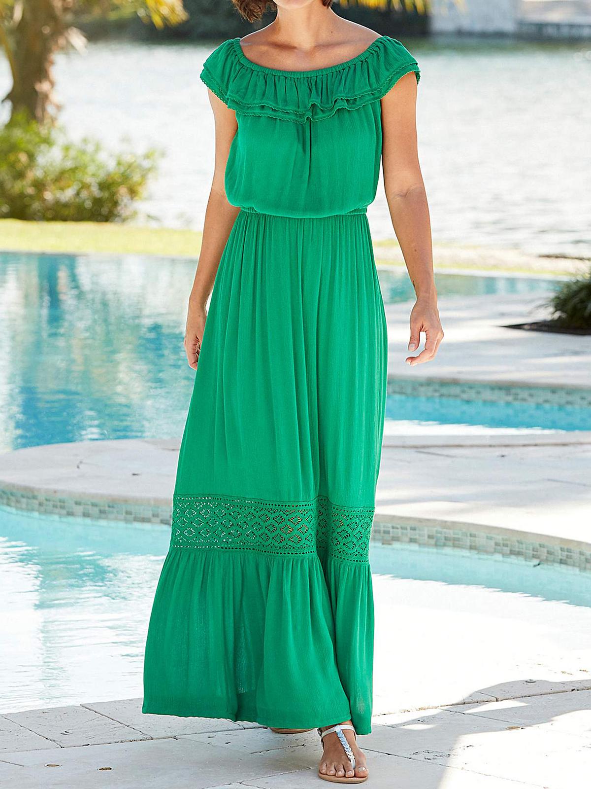 Joanna Hope - - Joanna Hope GREEN Boho Gypsy Maxi Dress - Plus ...