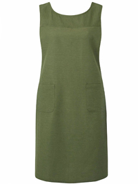 Capsule KHAKI Linen Blend Sleeveless Shift Dress - Plus Size 10 to 24