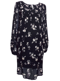 N3xt BLACK Floral Print Chiffon Maternity Dress - Size 6 to 20