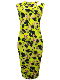 N3XT LIME Animal Print Bodycon Dress - Size 6 to 20