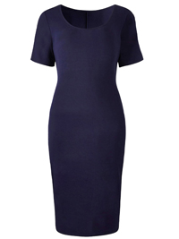 SimplyBe NAVY Midi Bodycon Jersey Dress - Plus Size 12 to 32