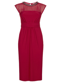 M0nsoon RED Serena Sleeveless Embellished Dress - Size 8 to 18