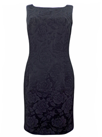 Principles BLACK Floral Jacquard Sleeveless Shift Dress - Size 10 to 12