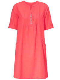 Cellbes RASPBERRY-RED Pintuck Front Shirt Dress - Size 8/10 to 32/34 (34/36 to 58/60)