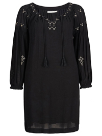 JOELLE BLACK Embroidered Wildflower BoHo Dress - Size 8/10 to 24/26 (EU 34/36 to 50/52)