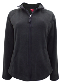 Merona BLACK Zip Through Fleece Jacket - Size 10 to 20 XSmall to XXLarge