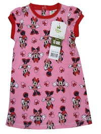 Disney Girls PINK Cotton Blend Minnie Mouse Print Dress - Age 6m to 23m