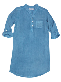 BobbieBrooks GIRLS DENIM Roll-Up Sleeve Shirt Dress - Size 4/5yrs to 14/16yrs (XSmall to XLarge)