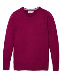 Williams&Brown BERRY Tall V-Neck Knitted Jumper with Wool - Size MT to 3XLT