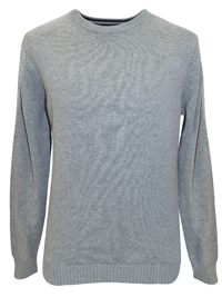 D3benhams LIGHT-GREY Pure Cotton Crew Neck Jumper - Size Small to XLarge
