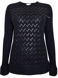 BLACK Geo Studded Long Sleeve Jumper - Size Small to XLarge