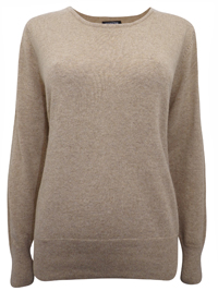 Hepburn CAMEL Long Sleeve Knitted Jumper - Size Small to XLarge