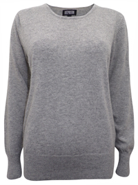 Hepburn GREY Long Sleeve Knitted Jumper - Size Small to XLarge