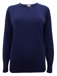 Hepburn NAVY Long Sleeve Knitted Jumper - Size Small to XLarge