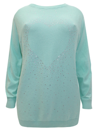 BPC Selection MINT Diamante Embellished Knitted Jumper - Size 10/12 to 30/32