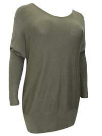 BPC Selection OLIVE Drop Shoulder Knitted Jumper - Size 10/12 to 22/24