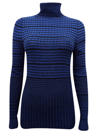 N3XT BLUE Roll Neck Knitted Jumper - Size 6 to 16