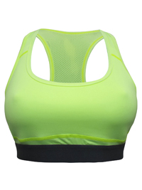 Applebay YELLOW Non-Padded Full Cup Sports Bra - Size XSmall to XLarge