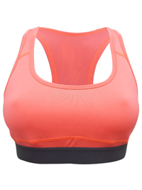 Applebay CORAL Non-Padded Full Cup Sports Bra - Size XSmall to XLarge