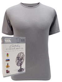 Canterbury Mens GREY Coolers Short Sleeve Crew Neck Tee - Size XSmall to XLarge