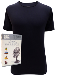 Canterbury Mens BLACK Coolers Short Sleeve Crew Neck Tee - Size XSmall to 2XL