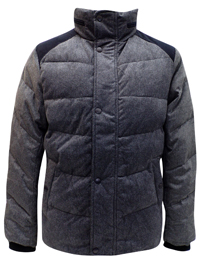 Mens Hangten CHARCOAL Padded Puffer Jacket - Size Small to Large