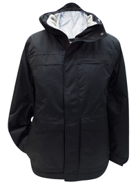 Mens Athletic Works BLACK Panelled Detachable Hood Jacket - Size Small to 2XL