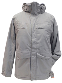 Mens Athletic Works GREY Panelled Detachable Hood Jacket - Size Small to 2XL