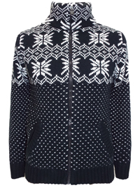 ANGELO LITRICO Mens BLACK Wool Blend Fairisle Zip Through Cardigan- Size Small to XXLarge