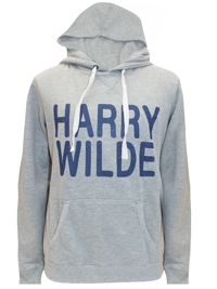 Harry WILDE Mens GREY Slogan Front Long Sleeve Hoodie - Size Small to XLarge