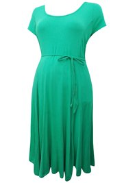 Motherhood GREEN Short Sleeve Belted Maternity Dress - Size Small to XLarge