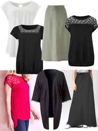 Capsule ASSORTED Tops, Skirts & Kimonos - Plus Size 14 to 32