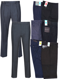 M&5 ASSORTED Mens Trousers - Waist Size 34 to 42 (Length 29in-33in)