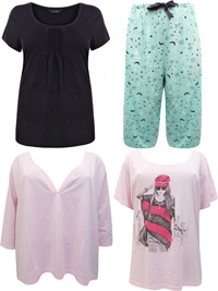 Yours ASSORTED Pyjama Tops & Bottoms - Plus Size 26/28 to 34/36